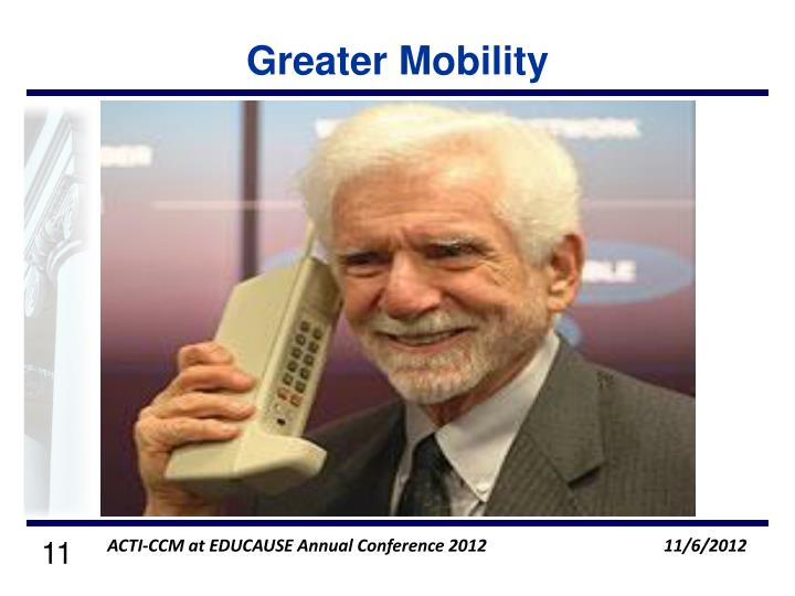 Greater Mobility