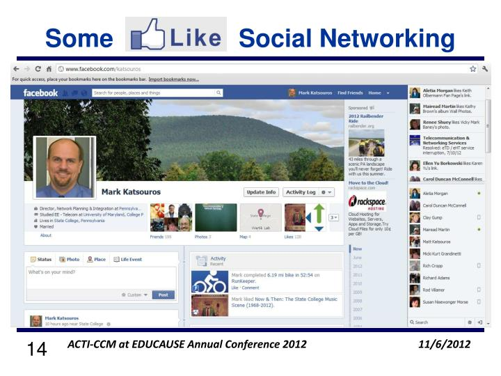 Some                  Social Networking