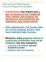 state and local public finance lecture 8 property tax incidence17