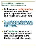 state and local public finance lecture 8 property tax incidence18