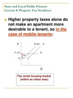 state and local public finance lecture 8 property tax incidence19
