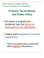 state and local public finance lecture 8 property tax incidence22