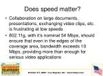 does speed matter1