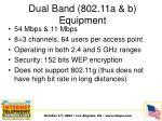 dual band 802 11a b equipment