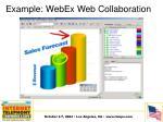example webex web collaboration