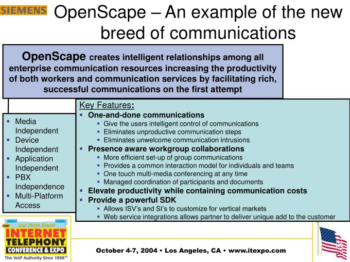 OpenScape – An example of the new breed of communications