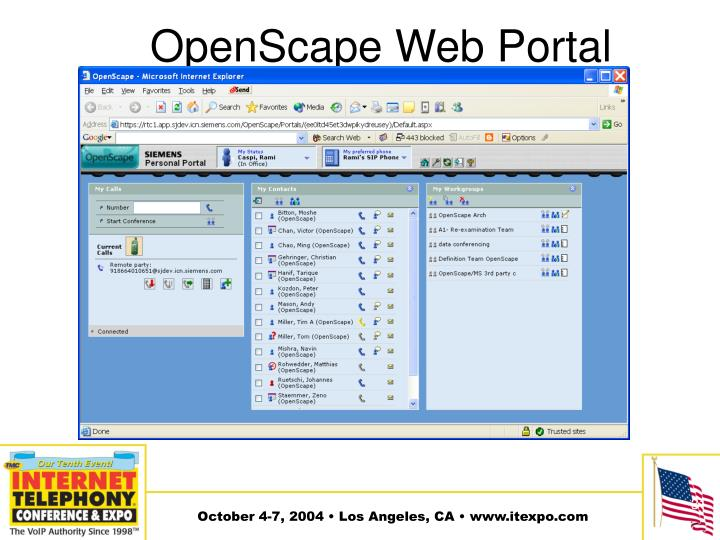 OpenScape Web Portal