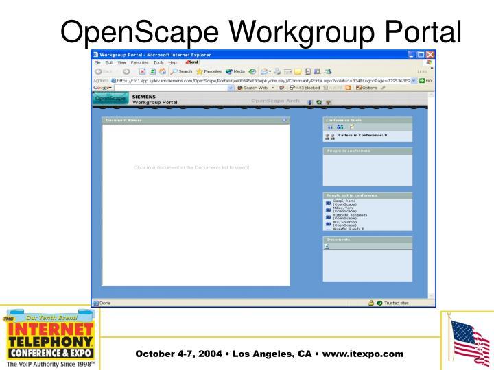 OpenScape Workgroup Portal