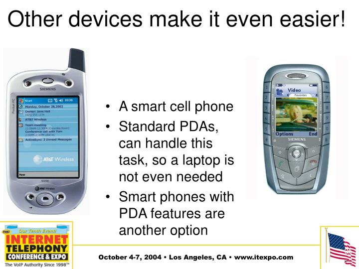 Other devices make it even easier!