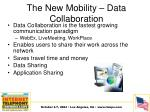 the new mobility data collaboration