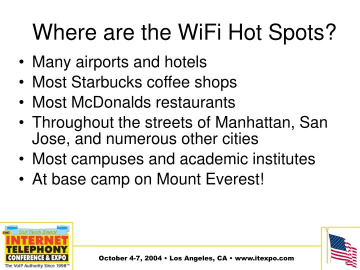 Where are the WiFi Hot Spots?