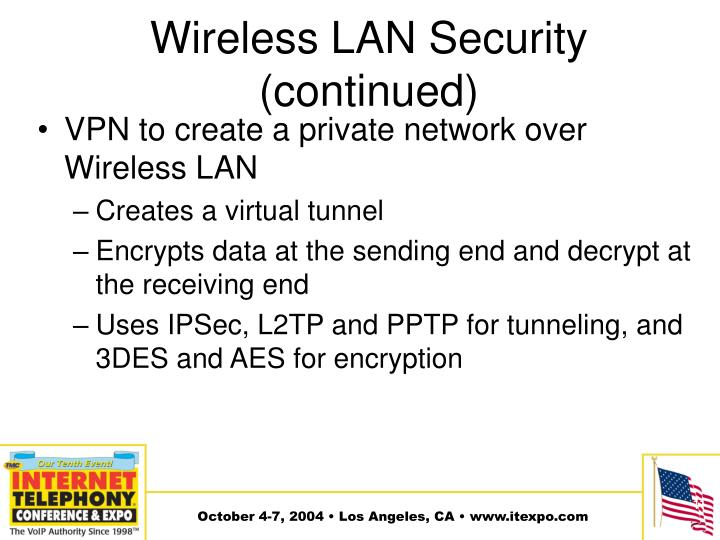 Wireless LAN Security (continued)