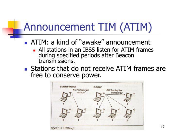 Announcement TIM (ATIM)