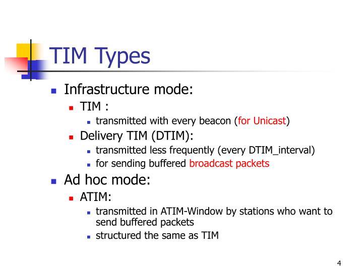 TIM Types