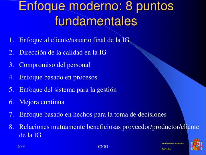 Enfoque moderno: 8 puntos fundamentales