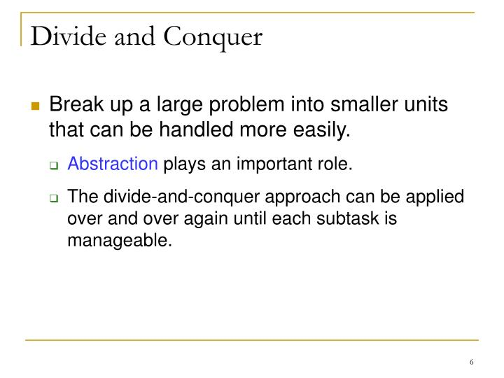 Divide and conquer homework problems