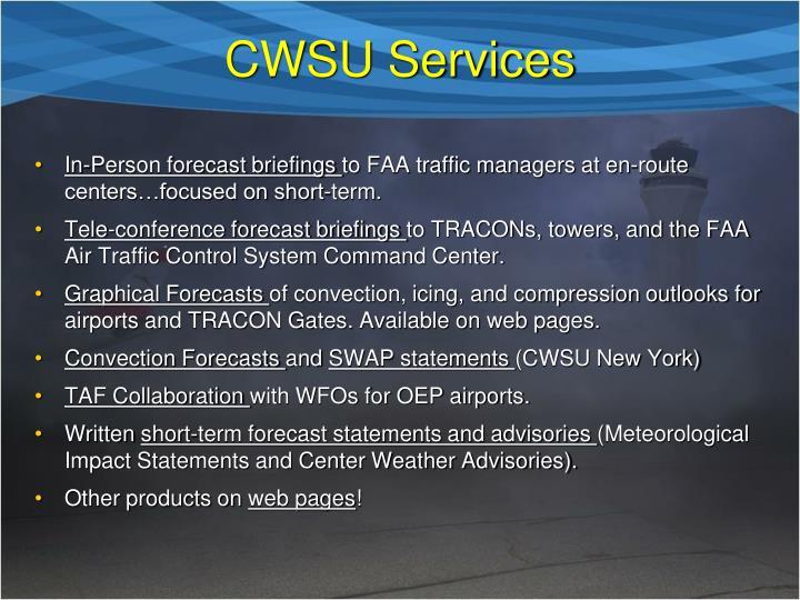 CWSU Services