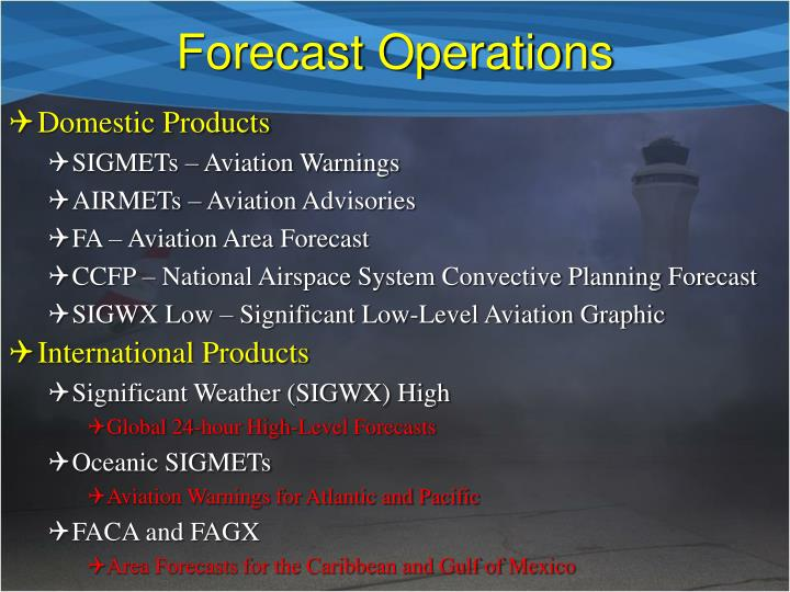 Forecast Operations