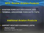 wfo routine aviation products