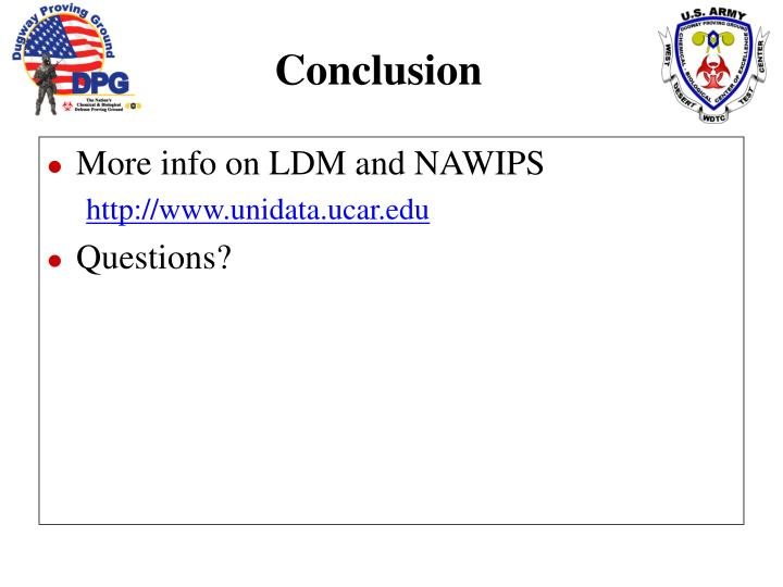 More info on LDM and NAWIPS