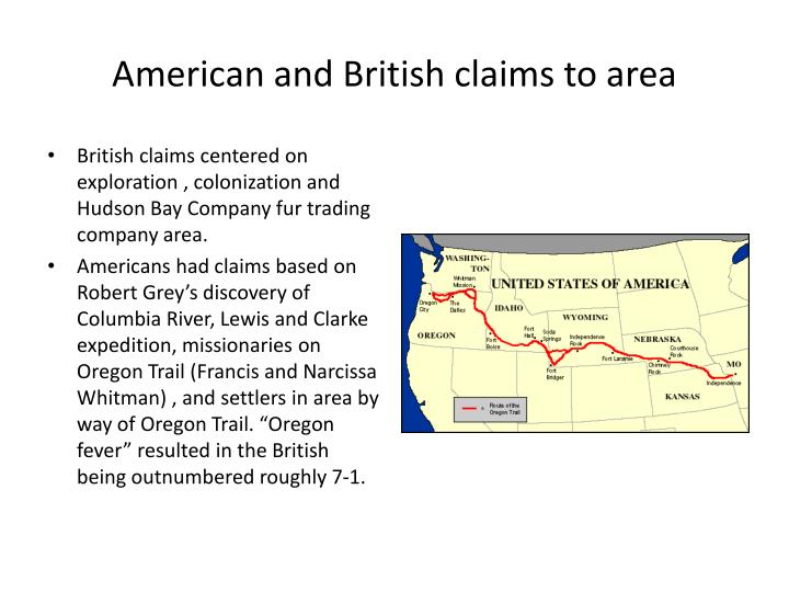 American and British claims to area