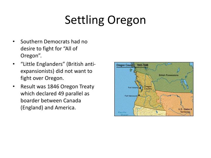 Settling Oregon