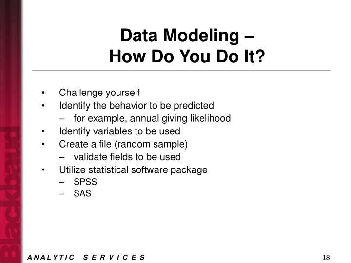 Data Modeling –