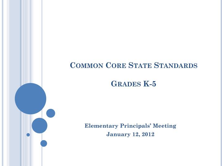 Common core state standards grades k 5