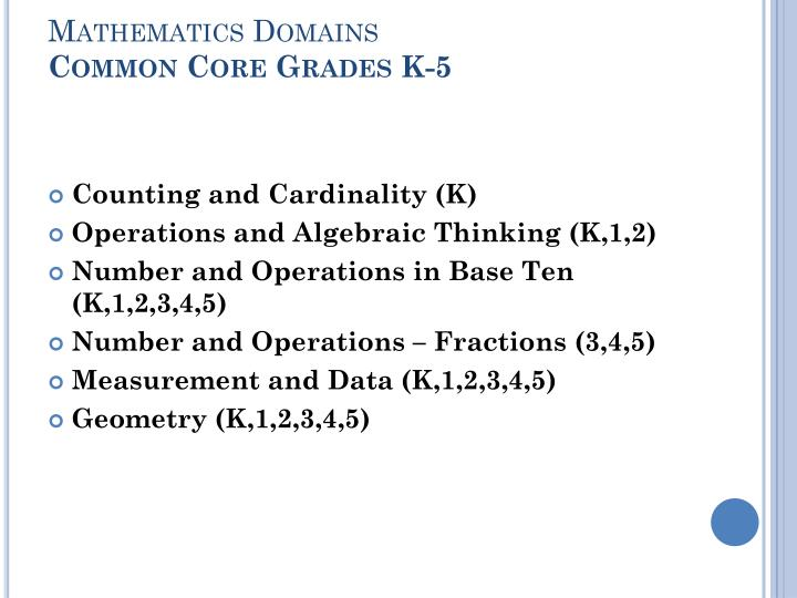 Mathematics Domains