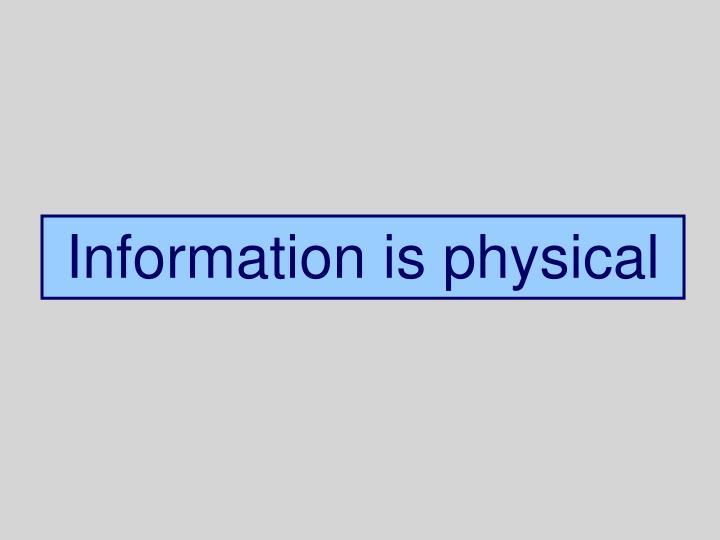 Info Phys