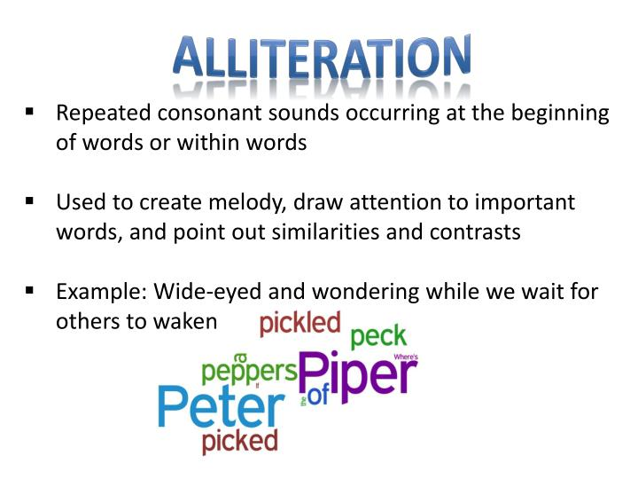 Alliteration