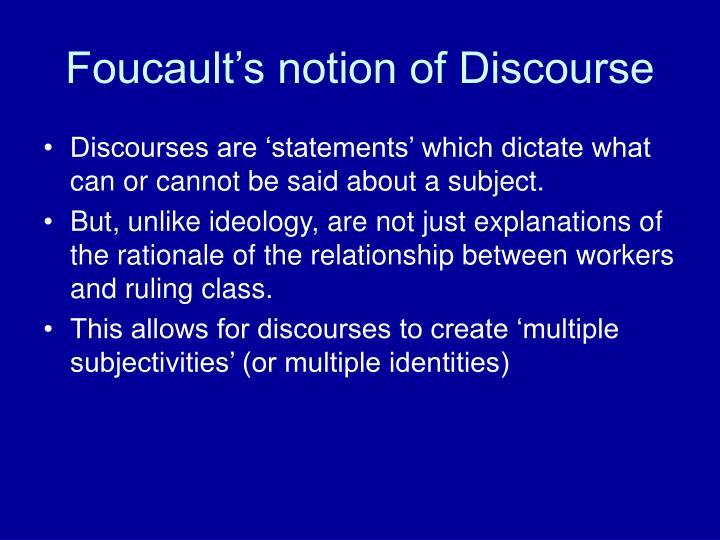 critically discuss foucault's notion of power The threat of ethical accountants an application of foucault's concept of ethics to accounting education and some thoughts on  foucault's notion of power.