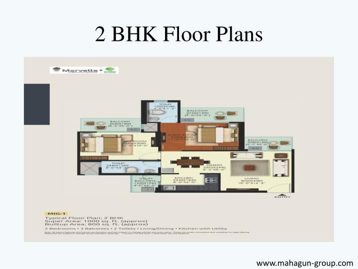 2 BHK Floor Plans