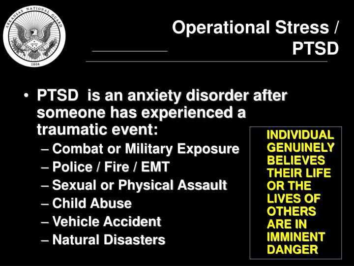 Operational Stress / PTSD