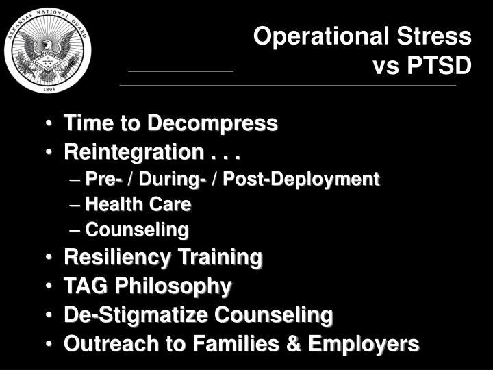 Operational Stress vs PTSD