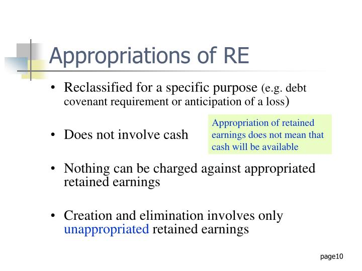 Appropriations of RE