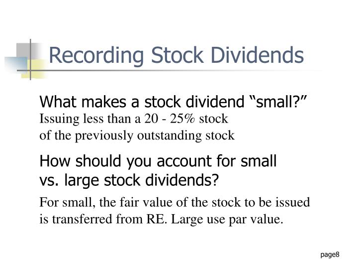 Recording Stock Dividends