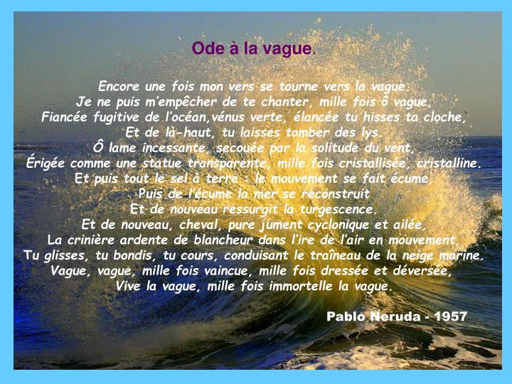 Ode à la vague