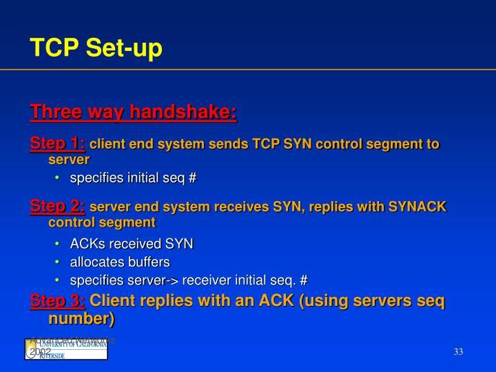 TCP Set-up