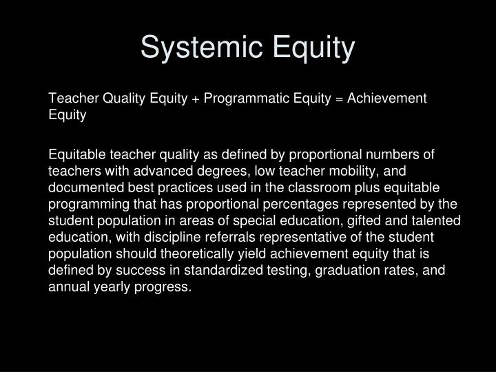 Systemic equity