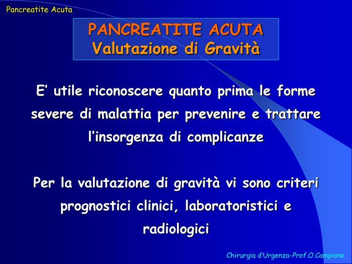 Pancreatite Acuta