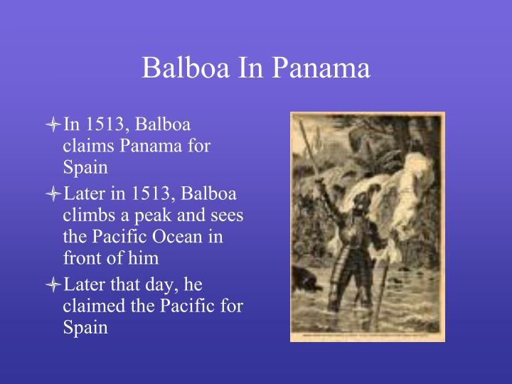 Balboa In Panama