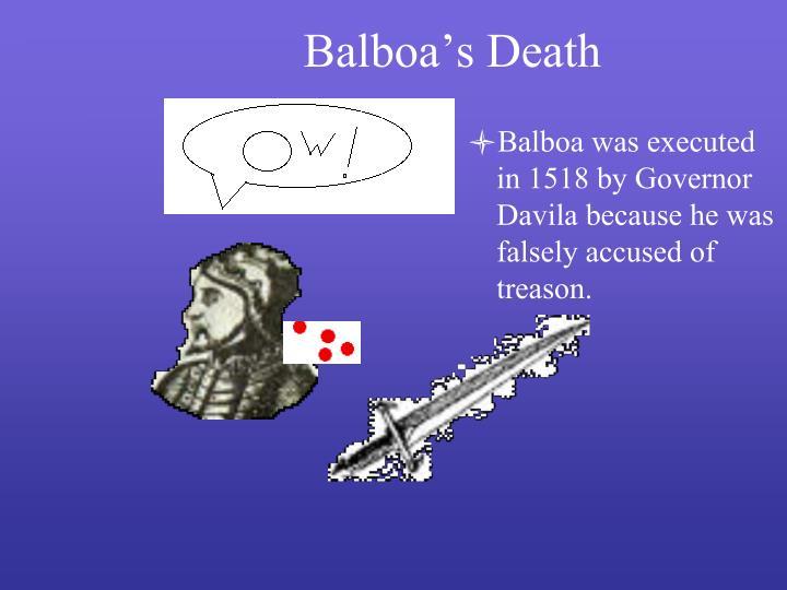 Balboa's Death