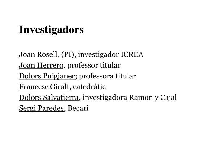 Investigadors