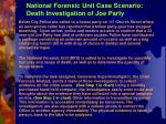 national forensic unit case scenario death investigation of joe party