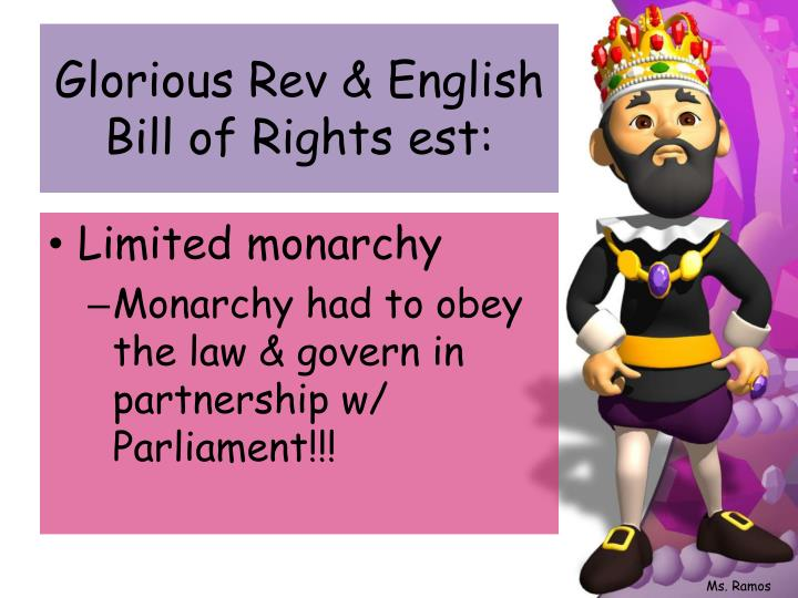 Glorious Rev & English Bill of Rights