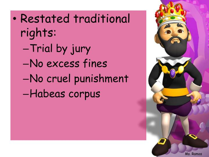 Restated traditional rights: