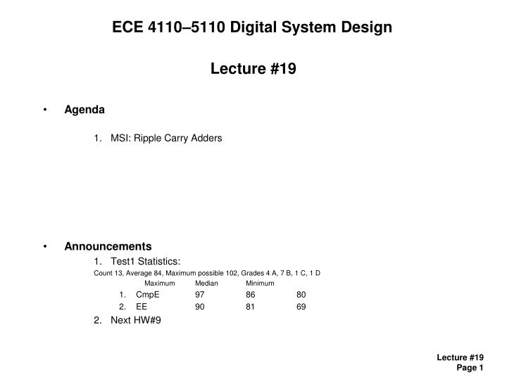 Ece 4110 5110 digital system design