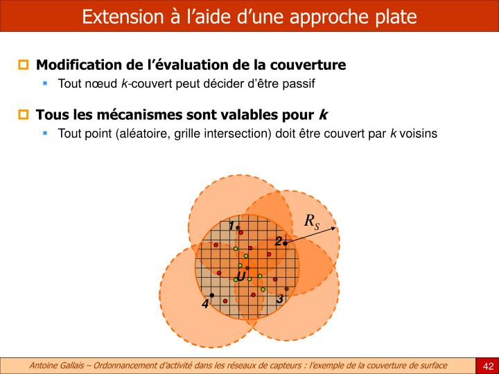 Extension à l'aide d'une approche plate