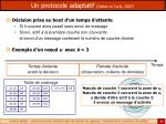 un protocole adaptatif gallais et carle 2007